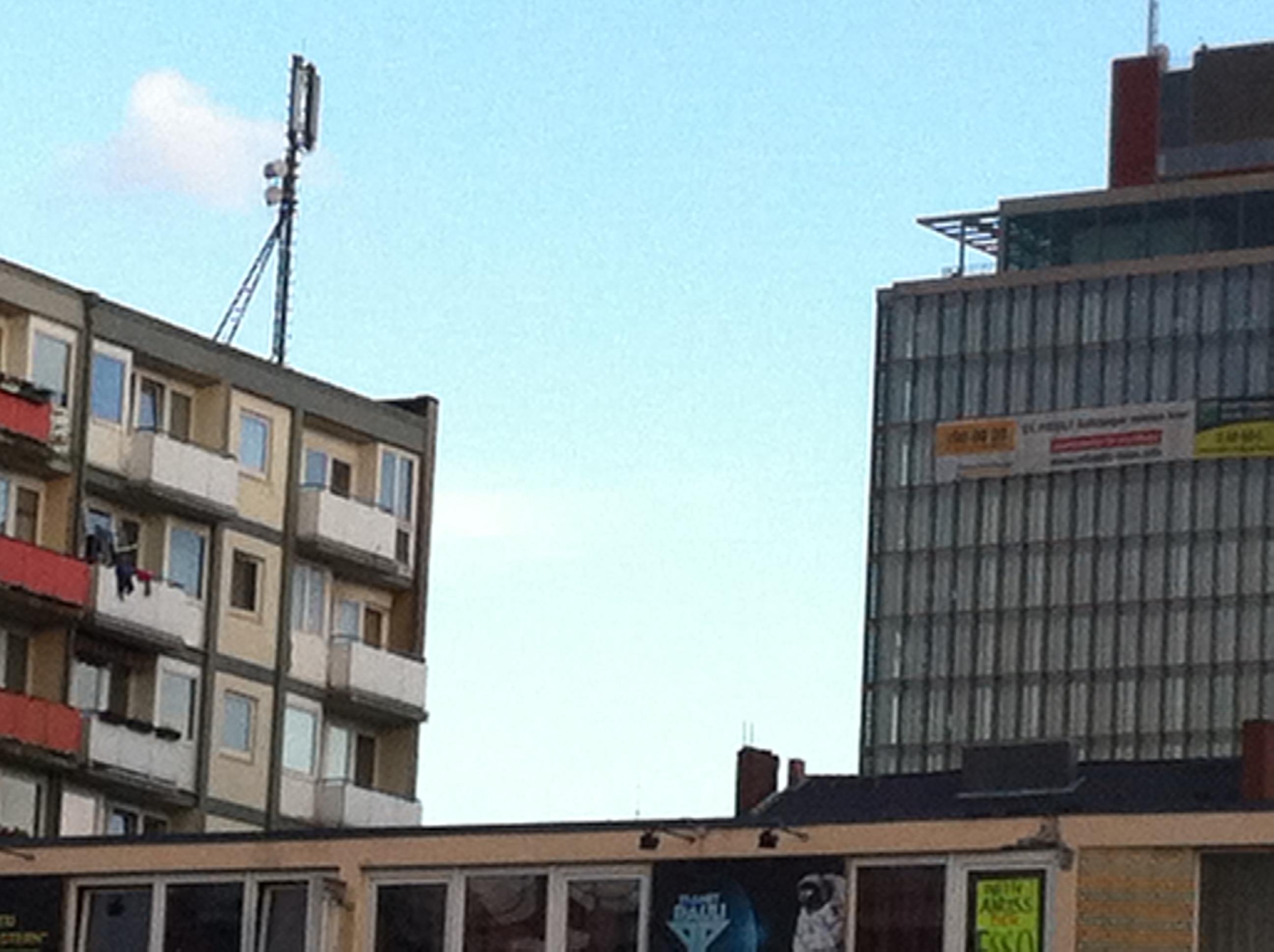 Essohochhäuser auf dem Kiez